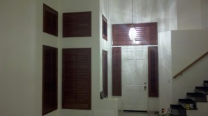 Stain Shutters Show Major Contrast