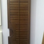 Stain French Door Shutter