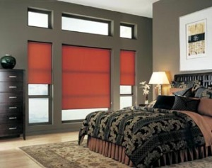 Red Roller Shade