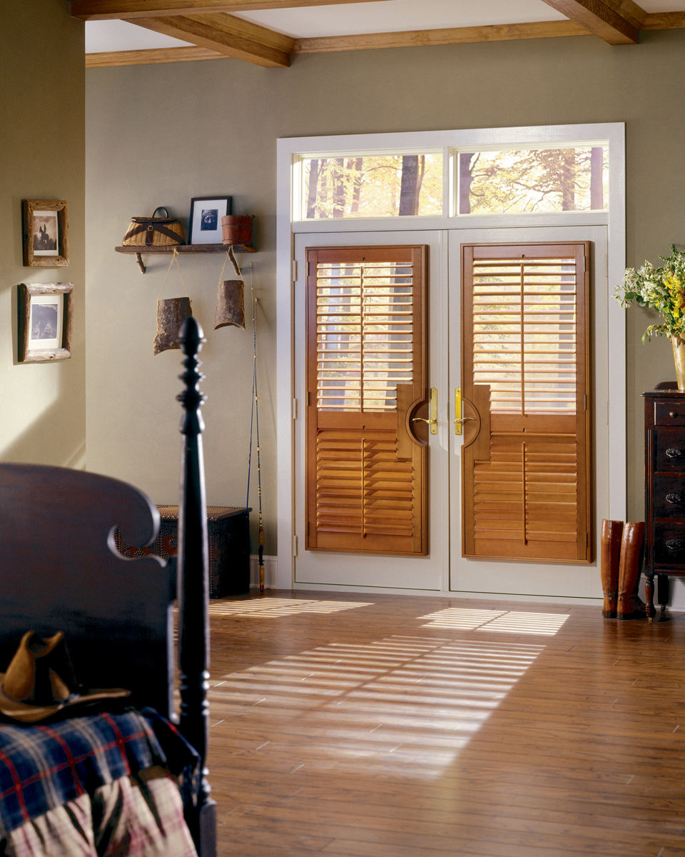 Stain Shutter on French Door