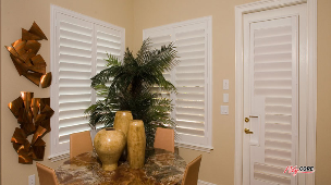 Sunland Polycore Plantation Shutter on French Door