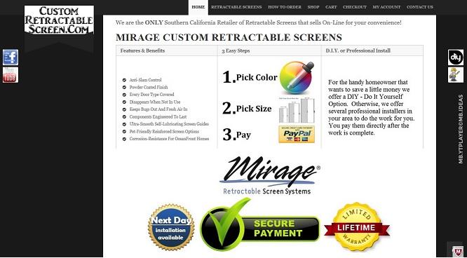 Custom Retractable Screen Page