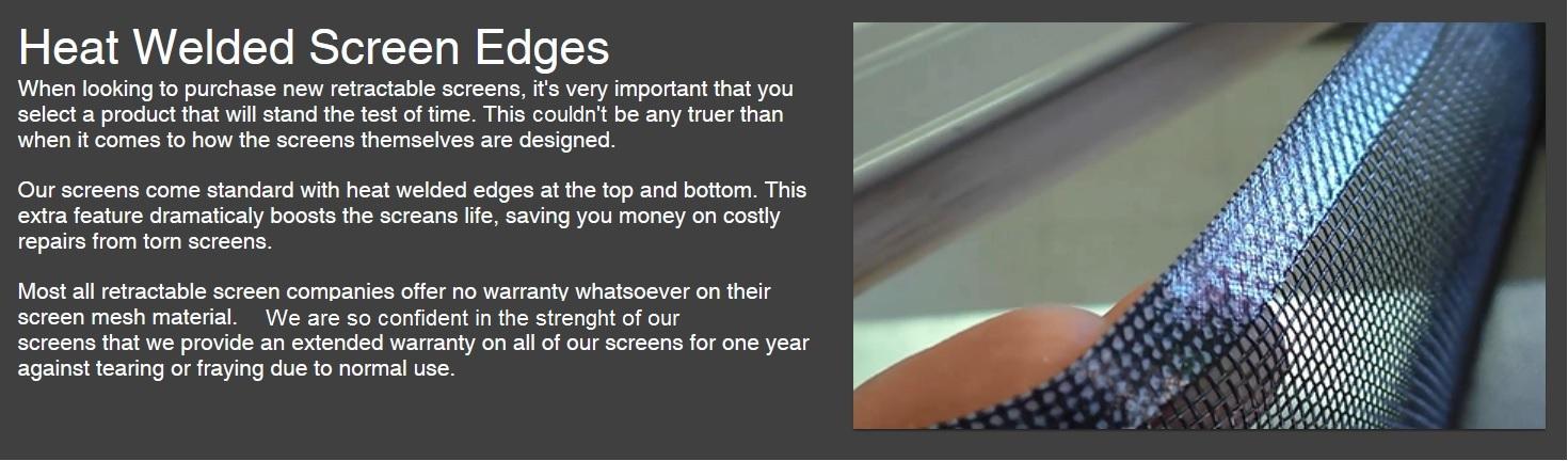 Screen_Lifetime Warranty Screen Weld ...
