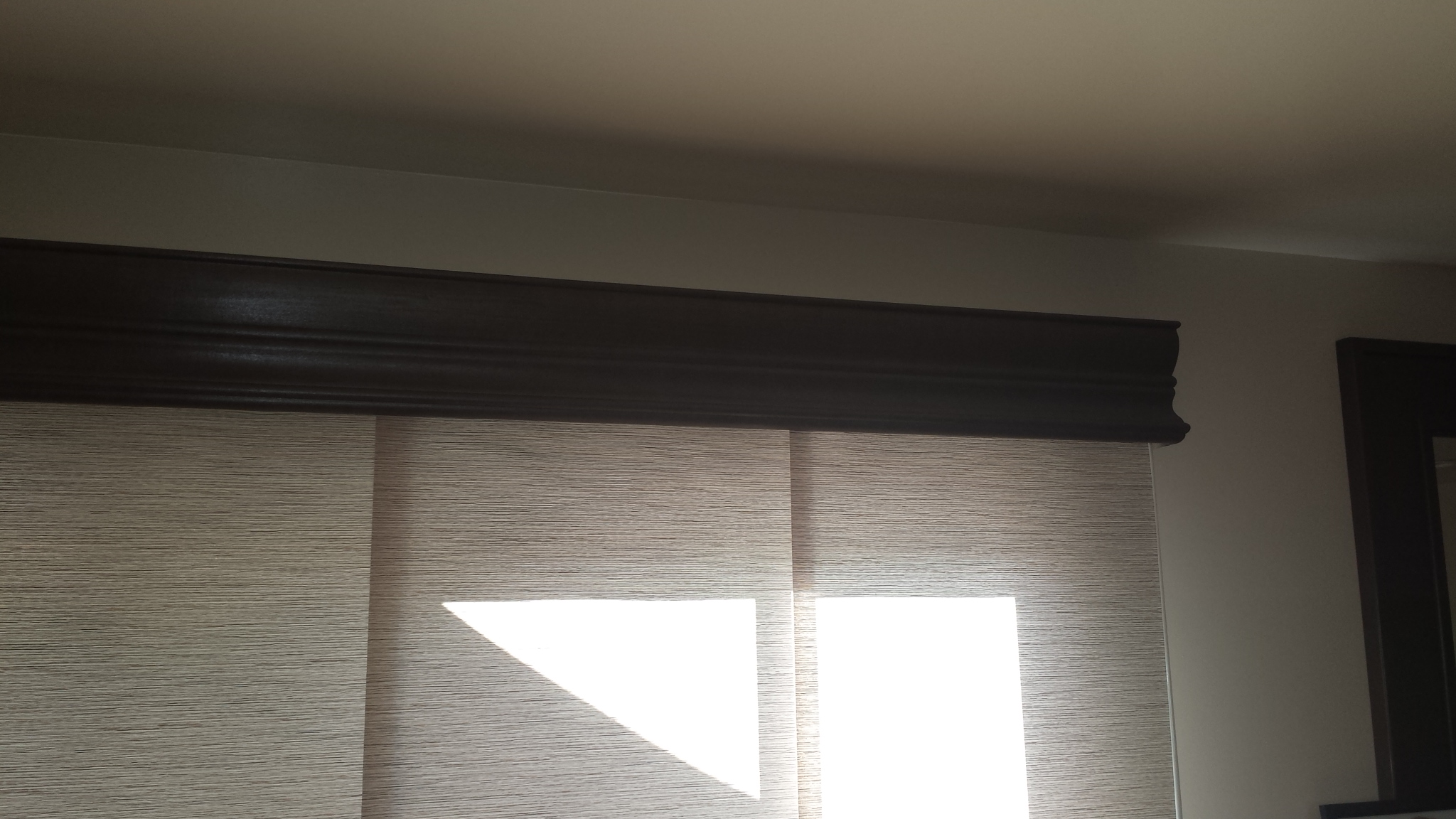 Cornice Over Panel Track Roller Shade