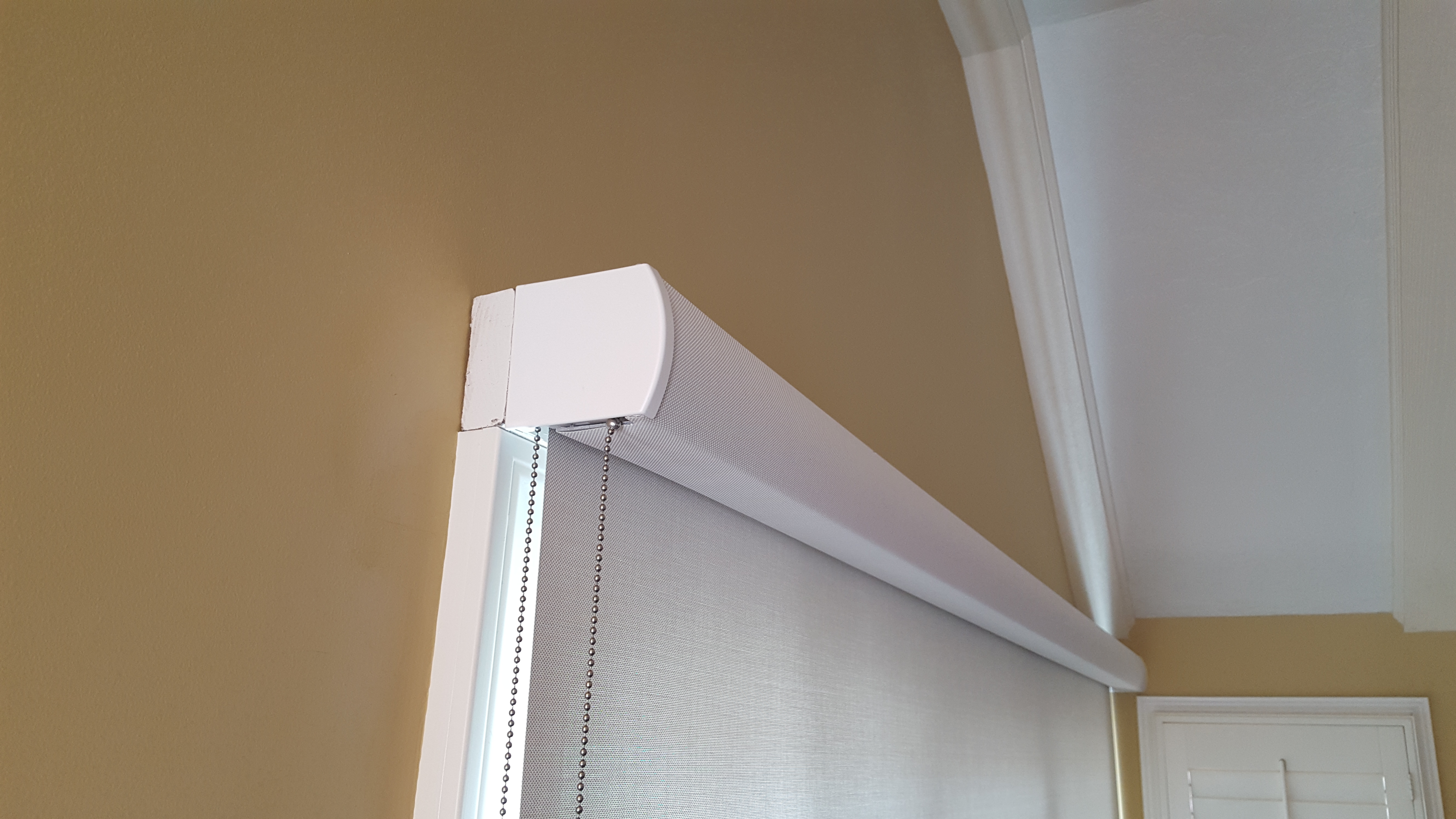 Roller Shade with 1x4 as Backing