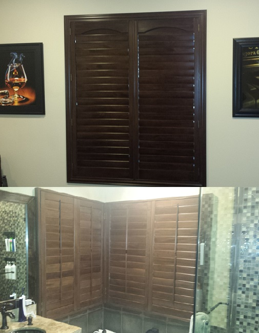 Basswood Stain Plantation Shutters