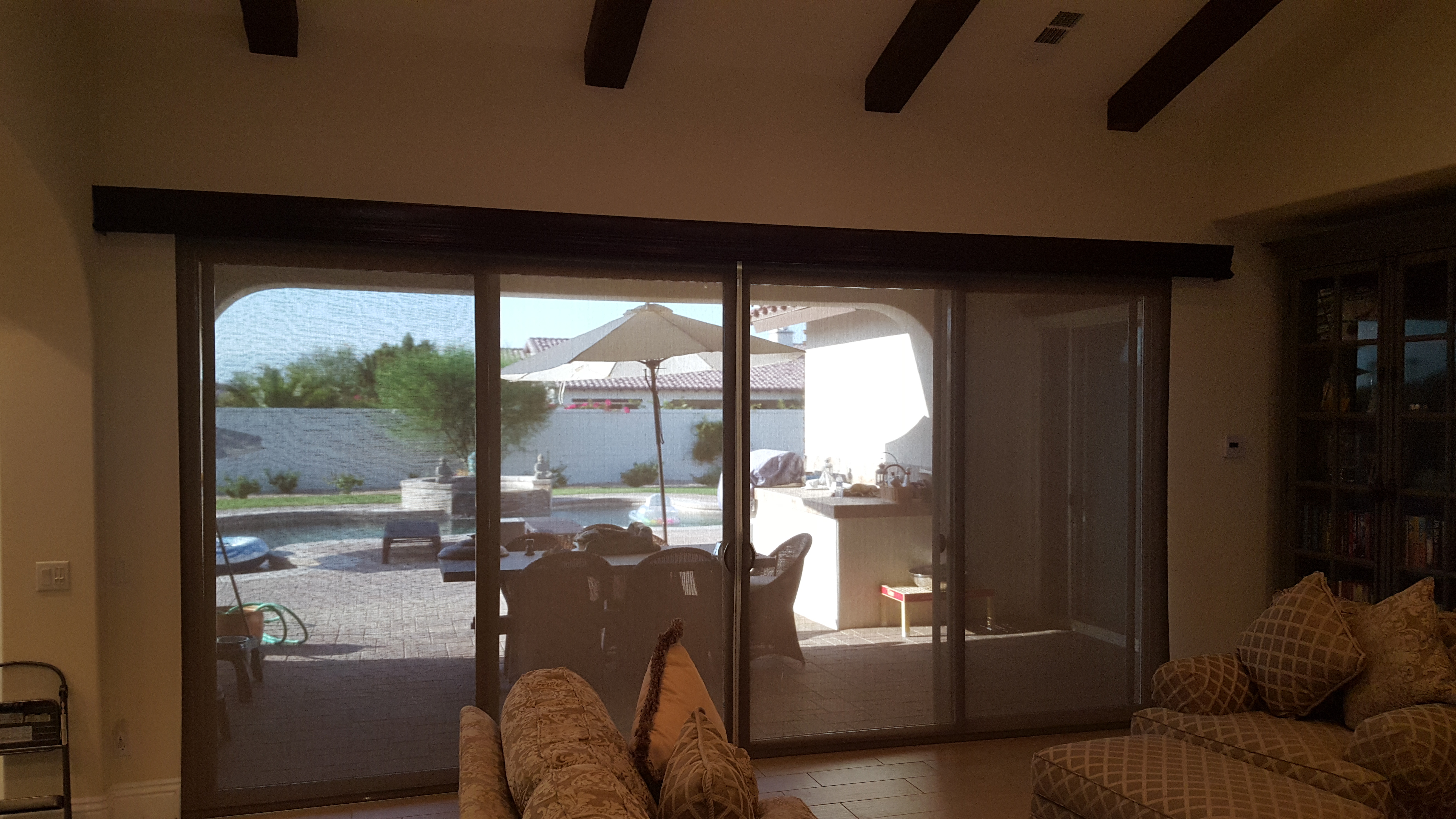 Coupled Somfy Motorized Roller Shade With Majestic Valance