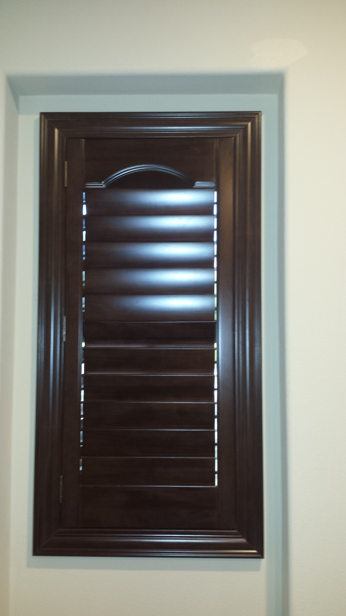 Stain Shutter With Liberty Arch