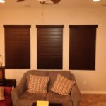 Contrasting Color Horizontal Blinds