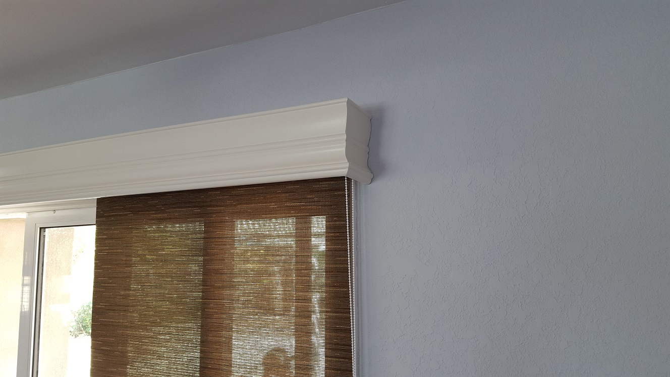 Majestic Wood Valance With Roller Shade Plantation