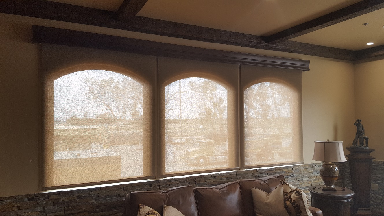 Motorized Roller Shades with Majestic Valance