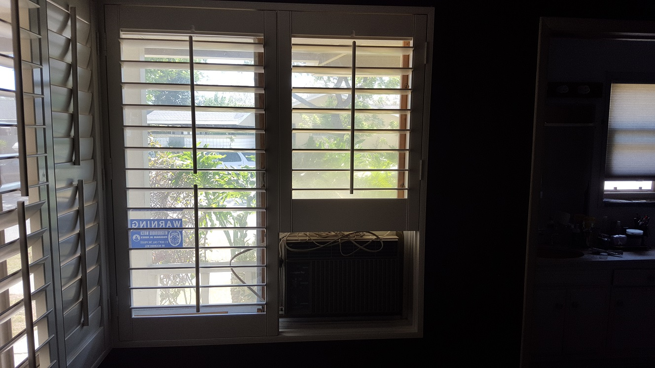 Shutter With Air Conditioner