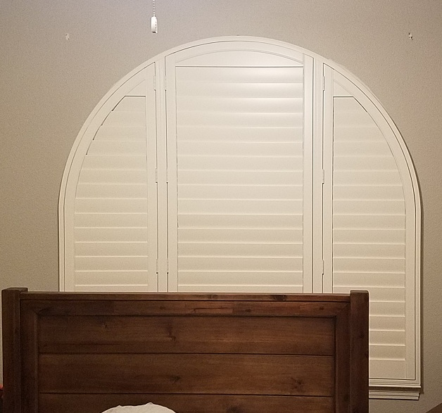 Arched Basswood Shutter