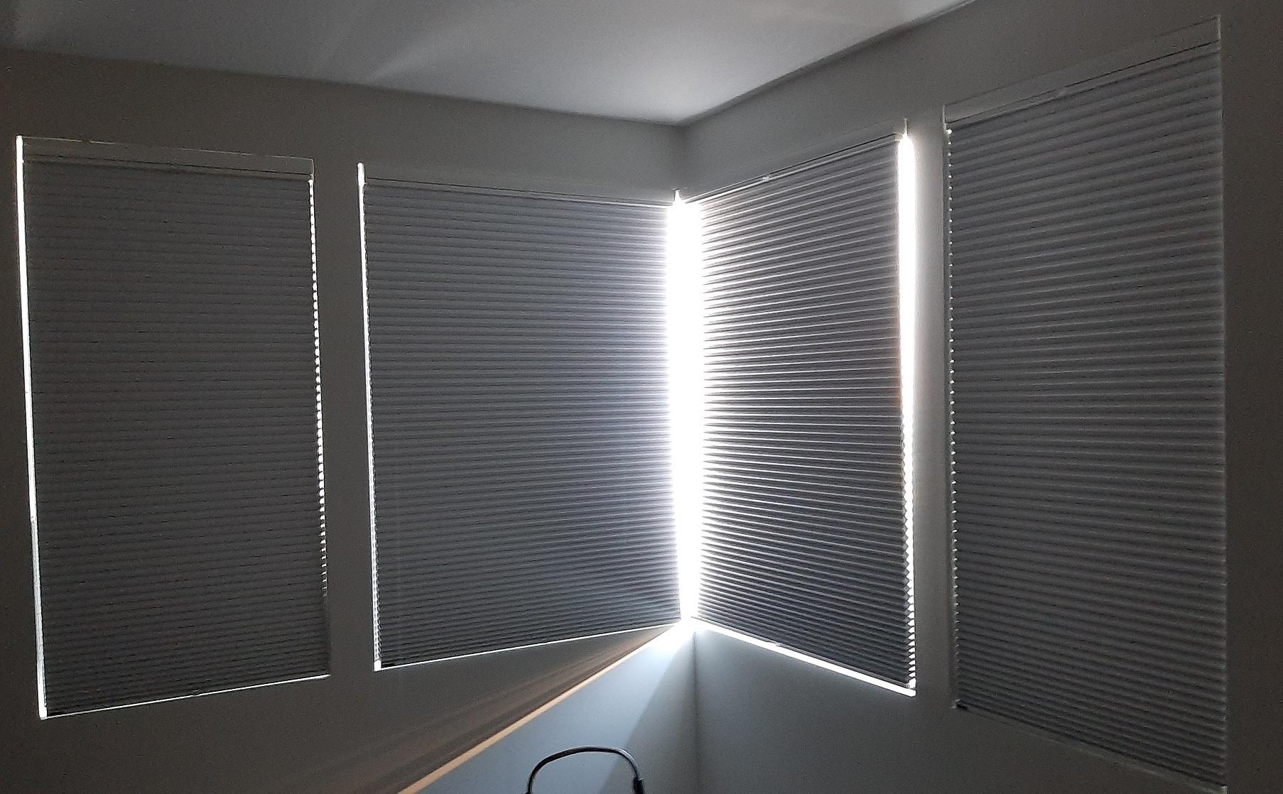 Blackout Cellular Corner Window
